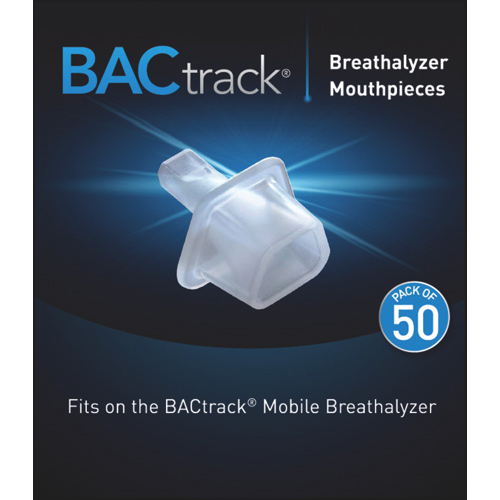 50 Pack BacTrack Replacement Breathalyzer Mouthpieces for the BacTrack  Mobile